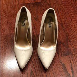Charlotte Russe white heels - used once on carpet